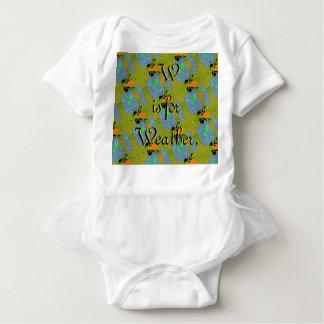 Body Para Bebê W é para o Bodysuit do tutu do tempo