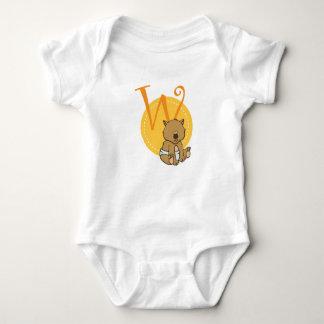 Body Para Bebê W é para Wombat