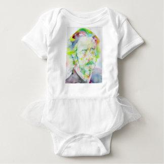 Body Para Bebê watts de alan - retrato da aguarela