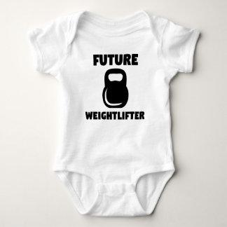 Body Para Bebê Weightlifter futuro Kettlebell