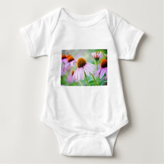 Body Para Bebê Wildflowers roxos