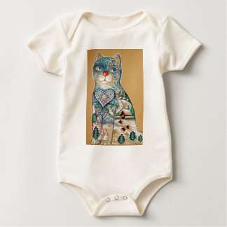 Body Para Bebê winter cat