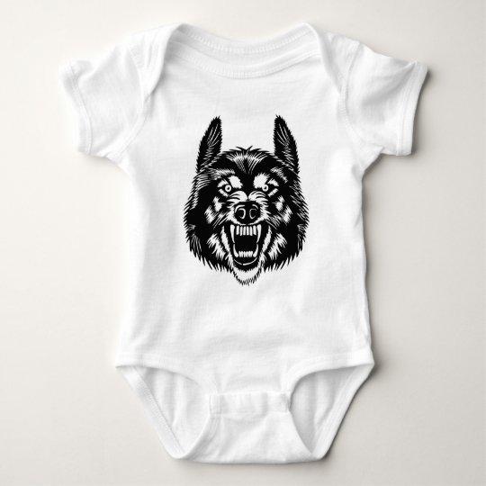 Body Para Bebê Wolf - Satan
