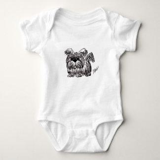 Body Para Bebê Woof um cão do espanador de poeira