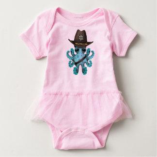 Body Para Bebê Xerife bonito do polvo do bebê azul