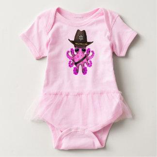 Body Para Bebê Xerife cor-de-rosa bonito do polvo do bebê