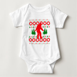 Body Para Bebê Xmas feio Bigfoot