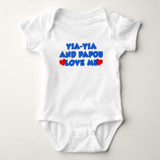 Body Para Bebê Yia-Yia e Papou amam-me