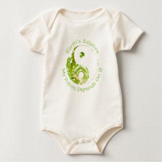 Body Para Bebê Yin Yang - o equilíbrio da terra meu futuro
