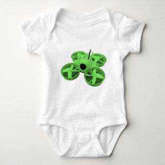 Body Para Bebê Zangão minúsculo verde do grito de Colorblock