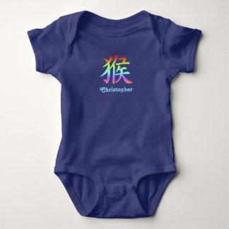 Body Para Bebê Zodíaco chinês - macaco - arco-íris