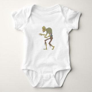 Body Para Bebê Zombi assustador com pele de derretimento com