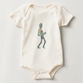 Body Para Bebê Zombi assustador descalço com a carne Rotting
