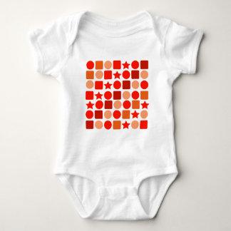 Bodysuit alaranjado do bebê de Geometrics Body Para Bebê