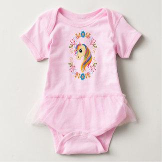 Bodysuit alegre do tutu do bebê do unicórnio do n body para bebê