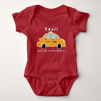 Bodysuit bonito do bebê do táxi de táxi body para bebê