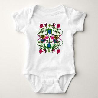 Bodysuit botânico da arte do bebê body para bebê
