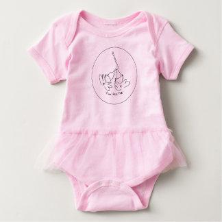 Bodysuit cor-de-rosa do tutu body para bebê