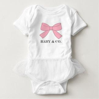 Bodysuit cor-de-rosa do tutu do bebê do BEBÊ & do Body Para Bebê
