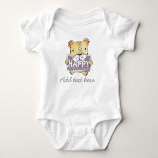Bodysuit customizável e Onsie do bebê do filhote Camiseta