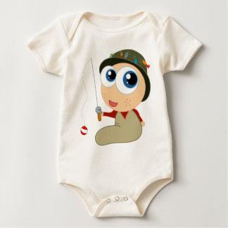 Bodysuit da pesca do pescador body para bebê