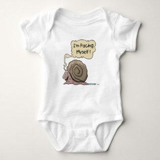 Bodysuit do bebê do caracol dos desenhos animados body para bebê