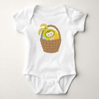 Bodysuit do bebê do coelhinho da Páscoa Body Para Bebê