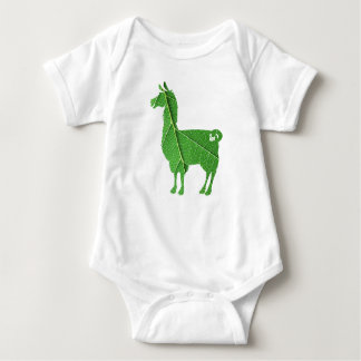 Bodysuit do bebê do lama da folha body para bebê