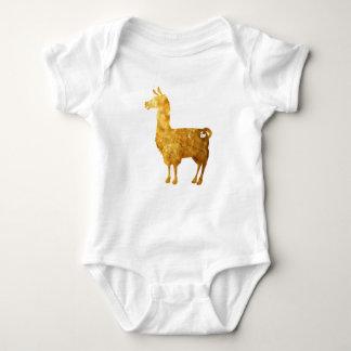 Bodysuit do bebê do lama do ouro body para bebê