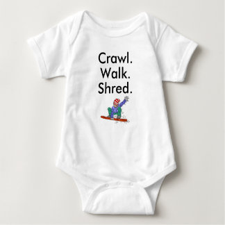 Bodysuit do bebê do Snowboard do fragmento da Body Para Bebê