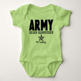 Bodysuit do exército do bebê body para bebê