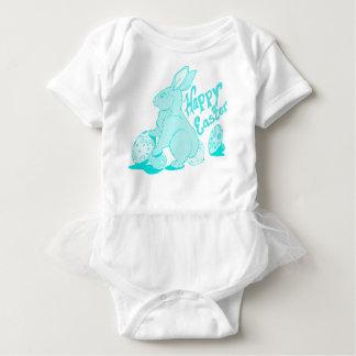 Bodysuit do felz pascoa para o bebé por Julie Body Para Bebê