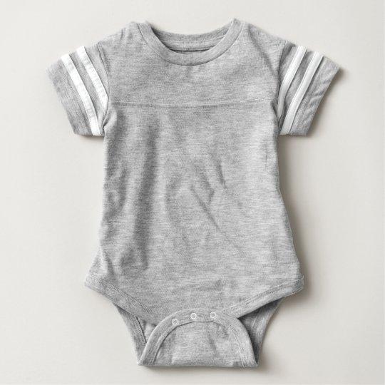 Macacão Body Futebol para Bebê, Heather Grey