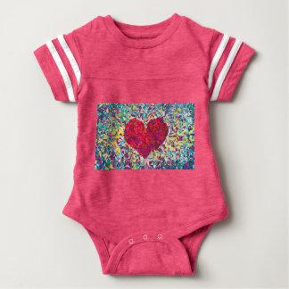Bodysuit do futebol do bebê do coração das Digitas Body Para Bebê