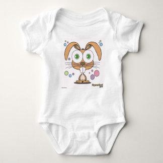Bodysuit do jérsei do bebê do coelho body para bebê