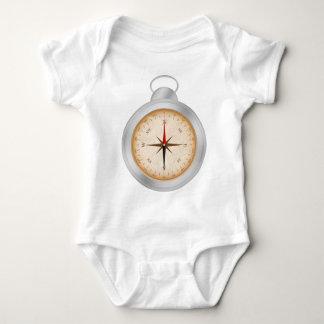 Bodysuit do jérsei do bebê do compasso t-shirt