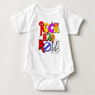 "Bodysuit do jérsei do bebê do ""rock and roll"" body para bebê"
