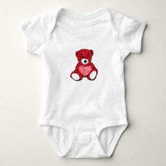 Bodysuit do jérsei do bebê do urso de ursinho body para bebê