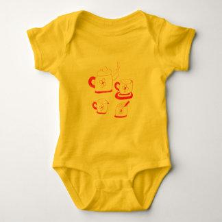 Bodysuit do jérsei dos bebês do tempo do chá body para bebê