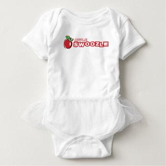 Bodysuit do tutu do bebê de Apple Swoozle Body Para Bebê