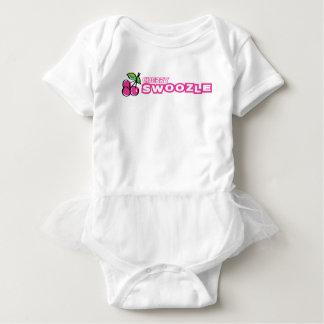 Bodysuit do tutu do bebê de Swoozle da cereja Body Para Bebê