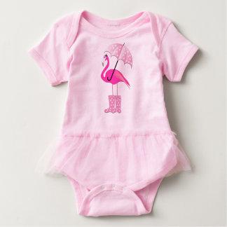 Bodysuit do tutu do bebê do flamingo body para bebê