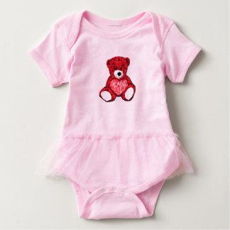 Bodysuit do tutu do bebê do urso de ursinho body para bebê