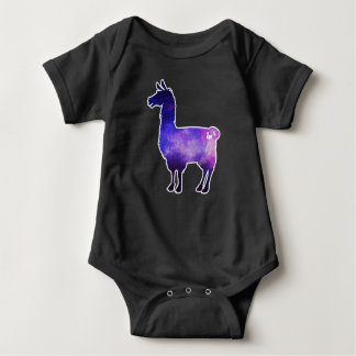 Bodysuit galáctico do bebê do lama body para bebê