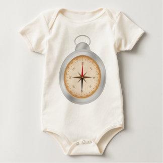 Bodysuit orgânico do compasso do roupa americano macacãozinho para bebê