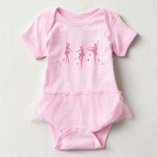 Bodysuit pequeno do tutu do bebê das bailarinas body para bebê