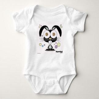 Bodysuit preto do coelho body para bebê