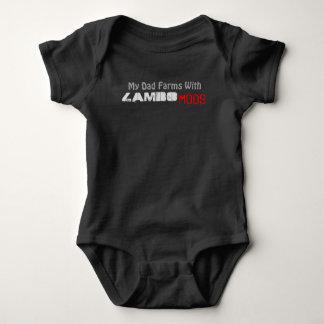 Bodysuit que do jérsei do bebê meu pai cultiva com body para bebê