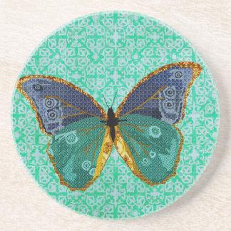 Boho Butterfly Art Coaster