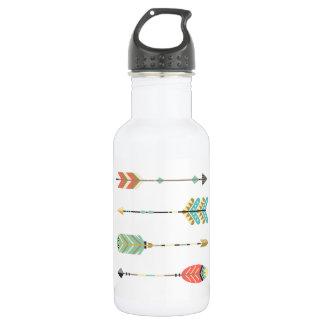 Boho Multi-Coloriu o design das setas na garrafa